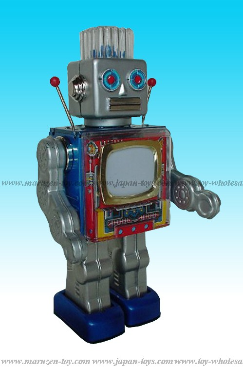 Screen (TV) Robot Battery Operated Tin Toy -Made in Japan- (3-5 month to be in stock)