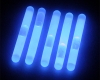 Night Carnival Idea! (LUMICA)Glow Sticks 2inch(Blue) 5 PCS