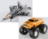 TakaraTomy TRANSFORMERS TF Stealth Force DX Auto Change Vehicle Assorted 2 Models (StarScream and Big Hoss)