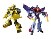 Japan Limited! Metalic Color! TRANSFORMERS ANIMATED Set B - Bumblebee VS Starscream