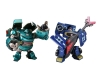 Japan Limited! Metalic Color! TRANSFORMERS ANIMATED Set D - Ironhide VS Soundwave
