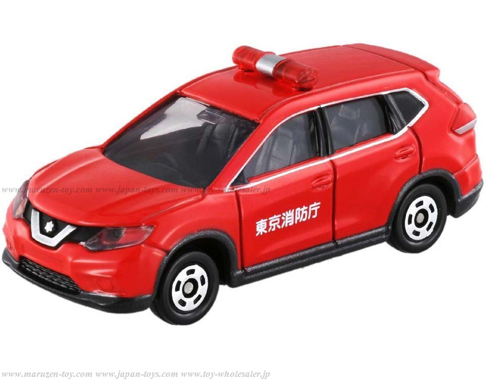 [TakaraTomy] BOX Tomica No.1 Nissan X-TRAIL Fire Engine Command van