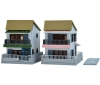 [Tomytec] The Building Collection 040-4 Contemporary Townhouses (Built-For-Sale House A4)
