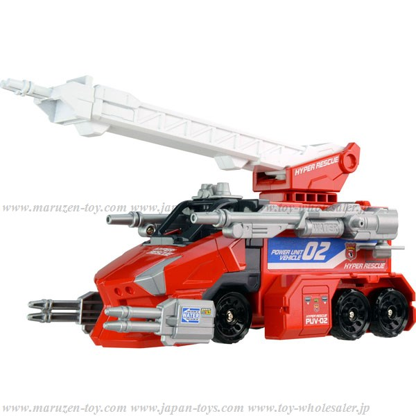 Tomica: Hyper Rescue Power Unit Vehicle 02 Powered Rescue Fire Engine