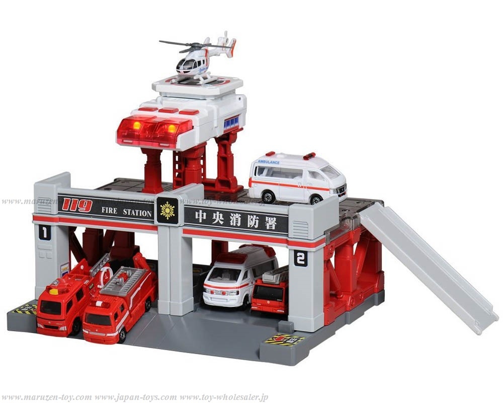 [TakaraTomy] Tomica Tomica Town Build City Sound Light Fire Station