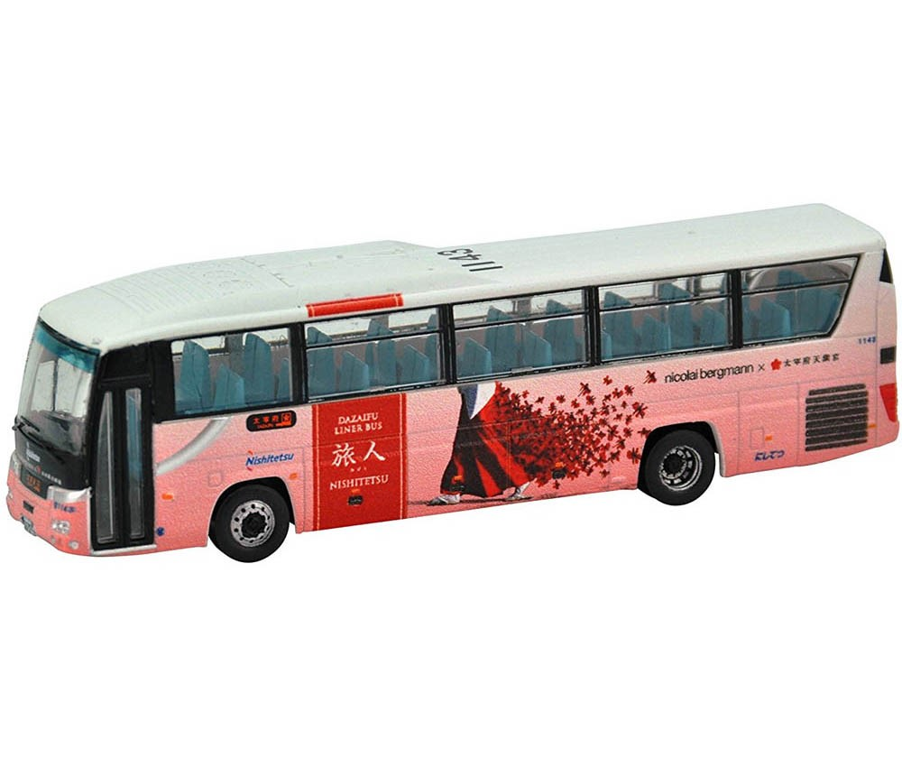 [Tomytec] The Bus Collection Nishi Nihon Testudo(JR West) Dazaifu Liner Bus Tourist Pink Version
