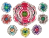 [TakaraTomy] BeyBlade Burst B-24 RANDOM Booster 02 Evil-eye Wing Needle