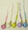 16mm Good-Luck Charm Pearl Bell with Bead Strap
